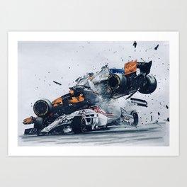 Formula One Crash Art Print