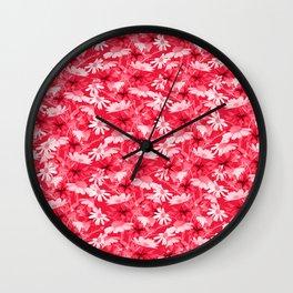 Pink chamomiles Wall Clock