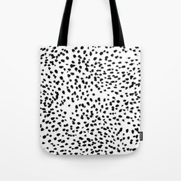 Nadia - Black and White, Animal Print, Dalmatian Spot, Spots, Dots, BW Tote Bag