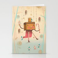 king Stationery Cards featuring KIng by Cristian Turdera