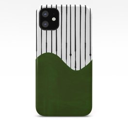 lines and wave (green) iPhone Case