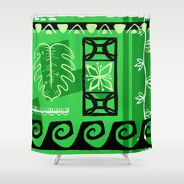 Hawaiian Pattern #1 - green! Shower Curtain