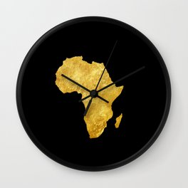Gold Africa Wall Clock