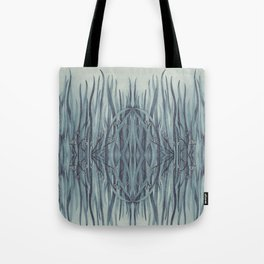 Green-Blue Grass Tote Bag