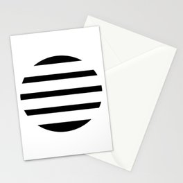 Blinding Sun Black Stationery Cards