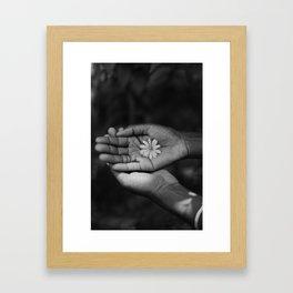Flower (Black & White) Framed Art Print