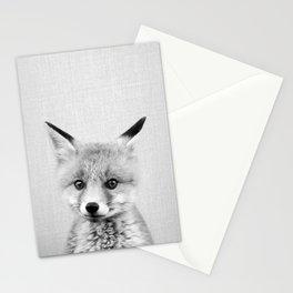 Baby Fox - Black & White Stationery Cards