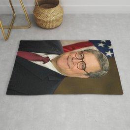 Attorney General William Barr Official Portrait Rug