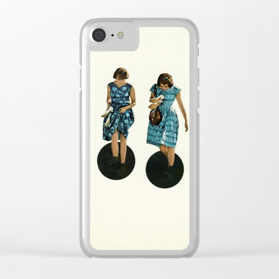 Quicksand Clear iPhone Case