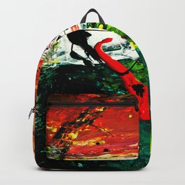 Vectorised Abstract art Backpack