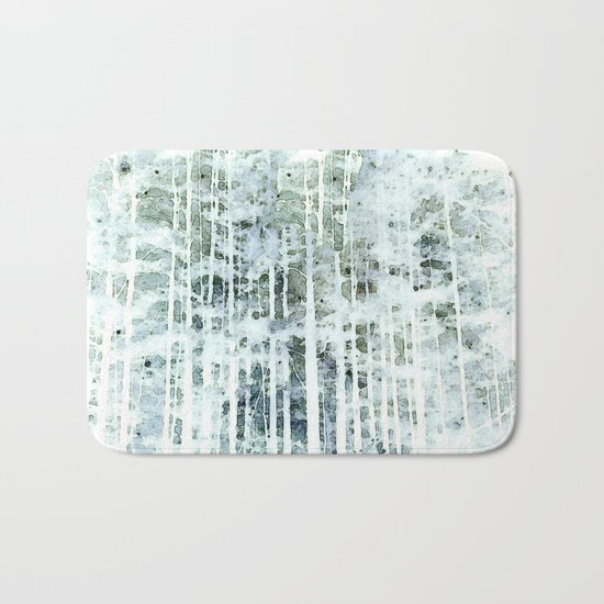 Painterly Woodlands Abstract Bath Mat