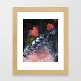 Poppy - Mixed Media Acrylic Abstract Modern Art, 2009 Framed Art Print