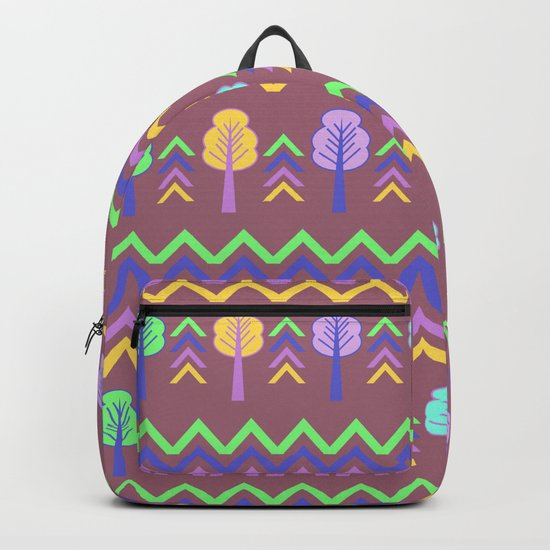 Trees and chevron Backpack