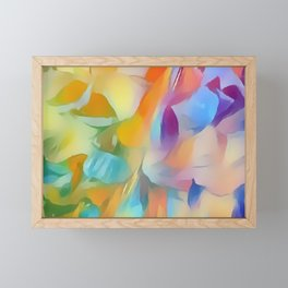 Soft Multi-color Pastel Abstract Framed Mini Art Print