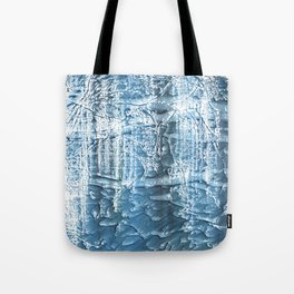 Steel blue nebulous wash drawing paper Tote Bag