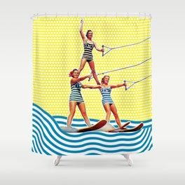 Power Pyramid Shower Curtain