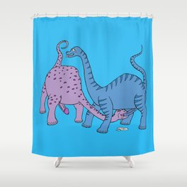 Before Time Began I (Blue) Shower Curtain