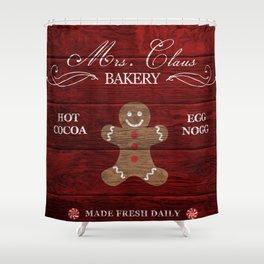 Gingerbread Bakery Shower Curtain