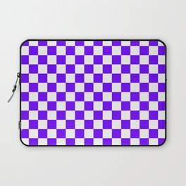 White and Indigo Violet Checkerboard Laptop Sleeve