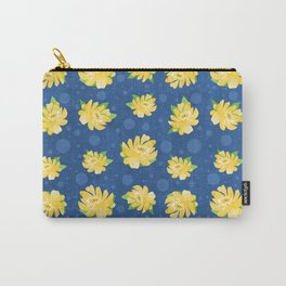 Yellow Rose and Polka Dots Carry-All Pouch