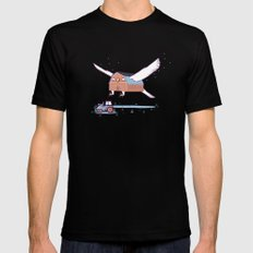 Barn owl MEDIUM Black Mens Fitted Tee