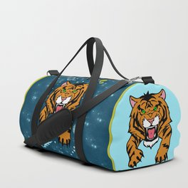Lucky Tiger Jean Jacket (We Bare Bears) Duffle Bag