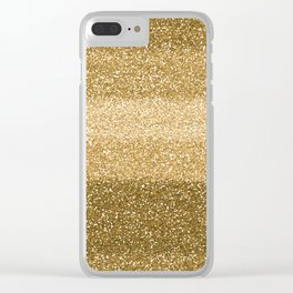Glitter Glittery Copper Bronze Gold Clear iPhone Case