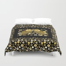 Cogs and Owls Duvet Cover