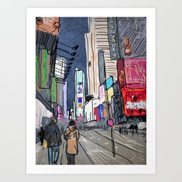 City Sidewalks Art Print