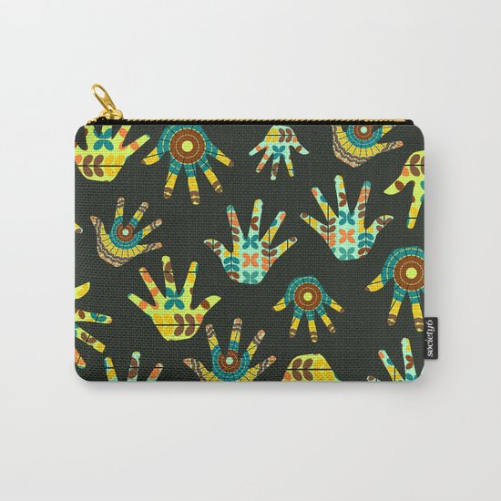 Colorful hands Carry-All Pouch