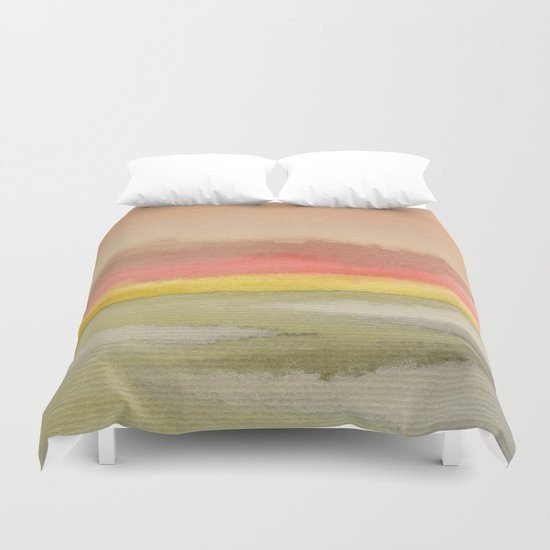 Watercolor abstract landscape 03 Duvet Cover