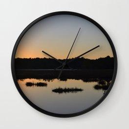 Sunset Reflection Wall Clock