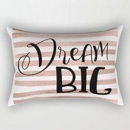 Dream big - rose gold Rectangular Pillow