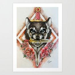 War Wolf Art Print