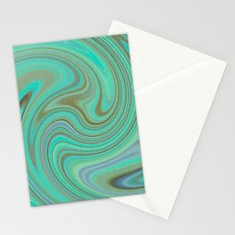 GREEN FANCY Stationery Cards