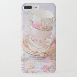 Shabby Chic Vintage Cups in Pink iPhone Case