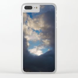Rainbow of the storm Clear iPhone Case