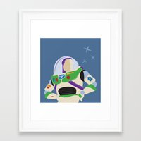 buzz lightyear Framed Art Prints featuring Lightyear by Aidan Toole