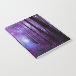 Fantasy Forest Path Purple Pink Notebook