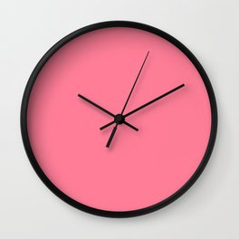 Watermelon Pink Wall Clock