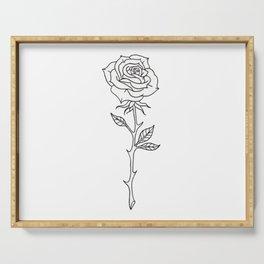 Rose Stem Illustrations Serving Tray