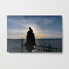 Looking over Lake Champlain Metal Print