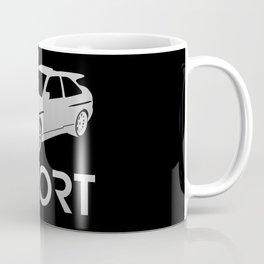 Ford Escort RS Cosworth - silver - Coffee Mug