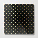 Gold polka dots on black pattern by betterhome