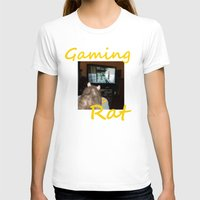 gaming T-shirts featuring gaming rat by Mindgoop