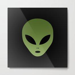 Extraterrestrial Alien Face Metal Print