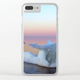 Viking Iceship on the Sea Clear iPhone Case
