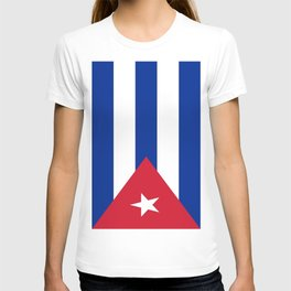Flag of Cuba -cuban,havana, guevara,che,castro,tropical,central america,spanish,latine T-shirt