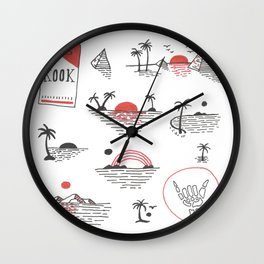 Sunset Kook Wall Clock