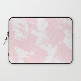 Blush pink white modern watercolor brushstrokes Laptop Sleeve
